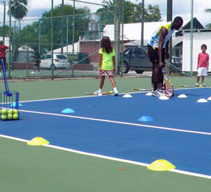 One of the activities at our junior tennis camp
