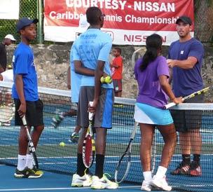 The Barbados Tennis team