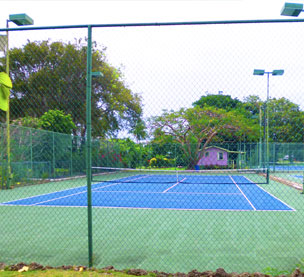 One of the courts at St James Racquet Club